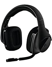 سماعة العاب جي 533 لاسلكية من لوجيتك تتميز بصوت محيطي دي تي اس 7.1 ومشغلات صوت برو-جي