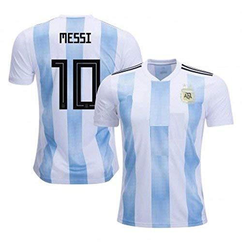2a212ef9ddf Step Shoes Men's Polyester Argentina Jersey Shorts 2018 World Cup Messi  Printed T-Shirt (