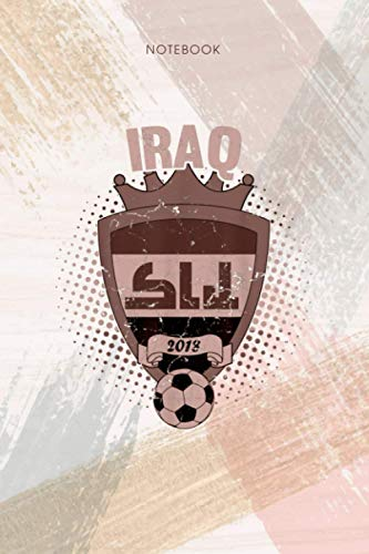 Notebook Iraq Soccer 2018 Iraqi Flag National Team Cup: To Do List, Appointment, Event, 114 Pages, Pocket, Personal, Life, 6x9 inch