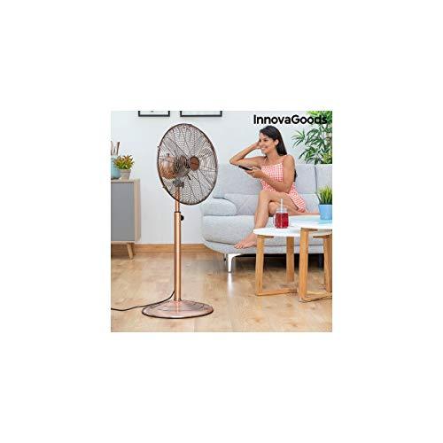 InnovaGoods - Ventilador de Pie Copper Retro Ø 40 cm 55W