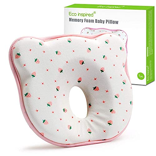 Eco inspired Baby Pillow for Newborn Prevent Flat Head Syndrome Memory Foam...