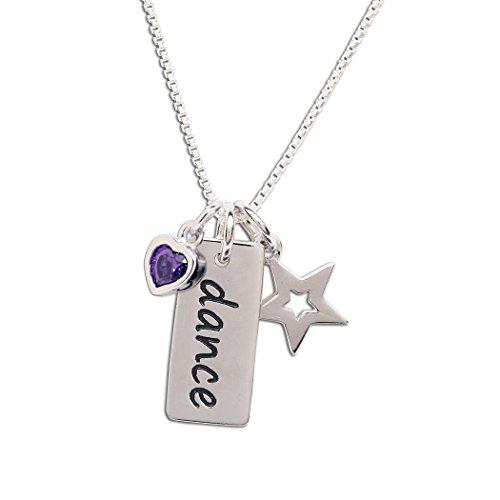 """Girl's Sterling Silver""""Dance"""" Pendant Necklace"""