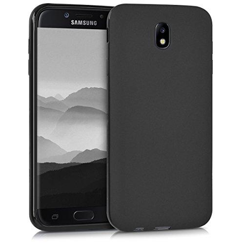 kwmobile Funda Compatible con Samsung Galaxy J7 (2017) DUOS - Carcasa de TPU Silicona - Protector Trasero en Negro Mate