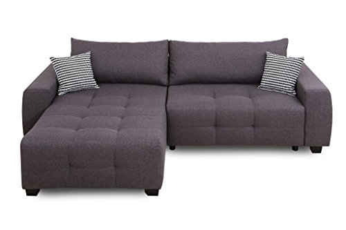 Collection AB Bellezza Polsterecke Ecksofa, Stoff, Anthrazit, 162 x 242 x 87 cm