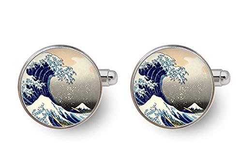 Gemelos pequeños de Elfo Hokusai, gemelos de gran olla, arte japonés, adornos...