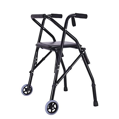 Walking Aids met wielen oude karren kan worden geduwd door auto versterkt lichtgewicht kleine Walker hand-Held oude man hand duwen stoel winkelen vouwfiets