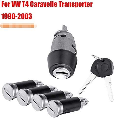 LSB de cambio de mando, Interruptor de encendido 1pack cerradura de puerta Set for VW Caravelle T4 1990-2003 interruptor de encendido y Transporter bloqueo de la puerta de barril Set y 2 llaves