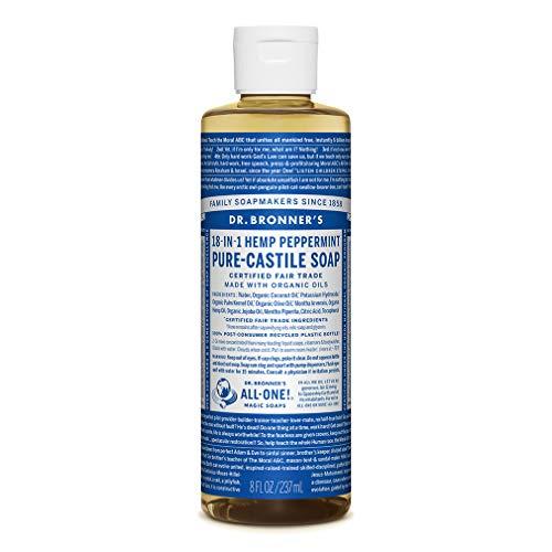 Dr. Bronners Savon de Castille parfumé à la menthe poivrée 237 ml