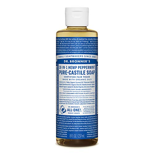 Dr. Bronner's - Pure-Castile Liquid Soap (Peppermint, 237 ml)