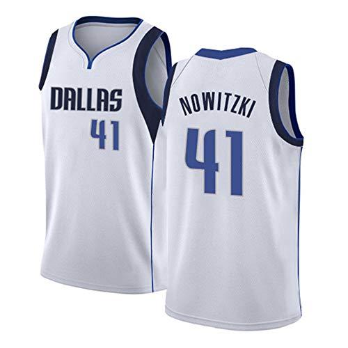 NBA Dallas Mavericks 41# Nowitzki Basketball Jersey Basketball-Anzug Basketballtrikot für Herren Männer Fans Unisex Basketballtraining Sportbekleidung