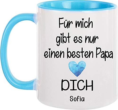 EZYshirt® PersonalisierteTasse Geschenk für den besten Papa verschiedene Motive Kaffeetasse Kaffeebecher