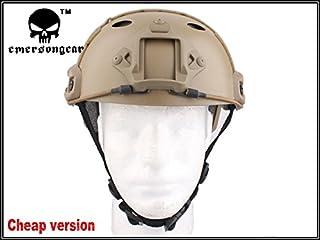 サバゲー用ヘルメット Emerson Ops-Coreタイプ Fast Carbonヘルメット DE TAN 廉価版