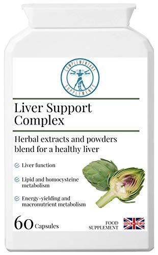 Complementary Supplements | Liver Support Complex | Healthy Liver & Gallbladder Formula | Traditional Herbal Blend with Added Nutrients | Artichoke | Liquorice | Dandelion | Burdock | 60 Capsules