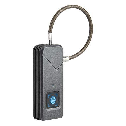 Lucchetto intelligente per impronte digitali, lucchetto antifurto per bagagli, impermeabile IP65, sbloccato in 0,5 secondi, per valigie, valigie, armadietti, biciclette, porte(Nero)