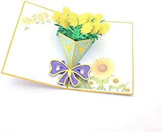 3D Pop up Beautiful Flowers Gift Greeting Card
