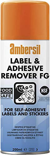 Pack of 3 Ambersil 200ml Label & Adhesive Remover Food Safe FG NSF K3 30254