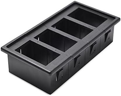 MICTUNING 4PCS Rocker Switch Holder Panel Housing Kit Fireproof ABS Plastic Black product image