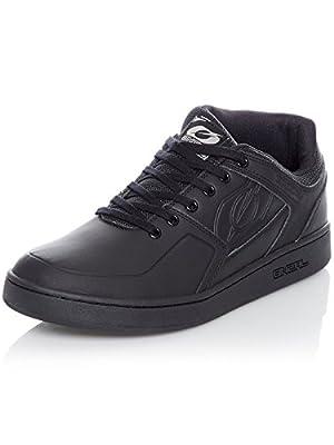 O'NEAL | Mountainbike-Schuhe | MTB Downhill Freeride | Vegan | Gleichgewicht zwischen Grip und Fußrepositionierung, Innengelenkschutz, PU | Pinned Pro Shoe | Erwachsene | Schwarz | Größe 42
