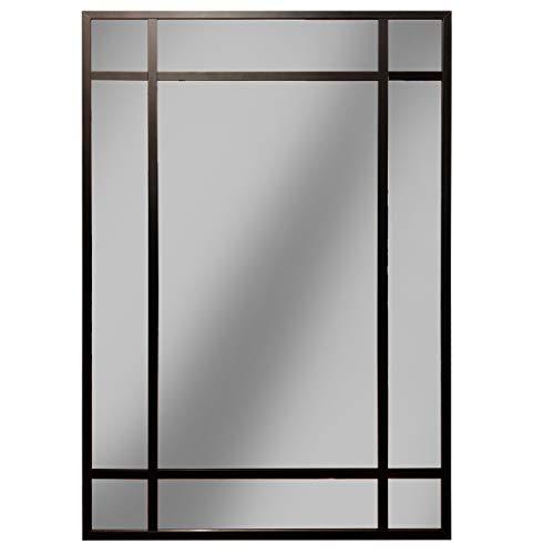 Espejo Ventana, Espejo Industrial, Estilo Danes, Aluminio Negro 120 x 80 cm