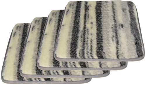 Emanhu Trading Pack Lammflor Stuhlkissen Sitzfläche Sitzkissen Polsterkissen 37x37cm (4 Pack)