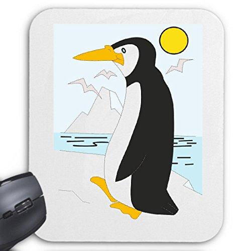 Mousepad (Mauspad) Pinguin auf dem EIS Cartoon Zeichentrick Spass Film Serie DVD für ihren Laptop, Notebook oder Internet PC (mit Windows Linux usw.)