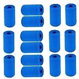 Sanfiyya SANFIYYA15PCS Filtro de Espuma de Espuma de Piscina Cartucho de Esponja de Esponja Reutilizable Acuario Aquarium Sponge Cartucho Adecuado para el Tipo ATEX A
