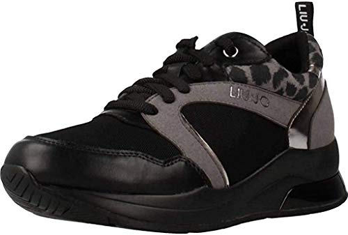 LIU JO B69031 TX058 Karlie 23 Zapatillas DE Deporte Mujer Nero 36