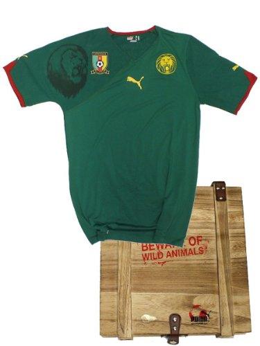 10-11 Kamerun Home Authentic Trikot in Box Puma Africa Auth Shirt Größe S - limitierte Stückzahl von Puma aufgelegt als Umweltschutzprojekt
