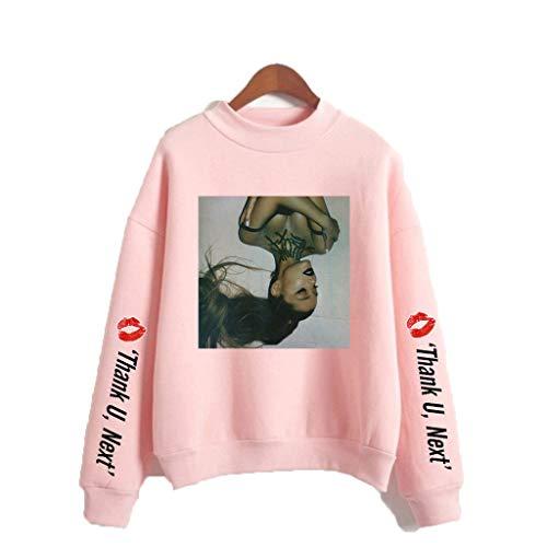 U CAN T-Shirt Arianagrande Unisex Langarm-Sweatshirt Mit Hohem Kragen Schwarz