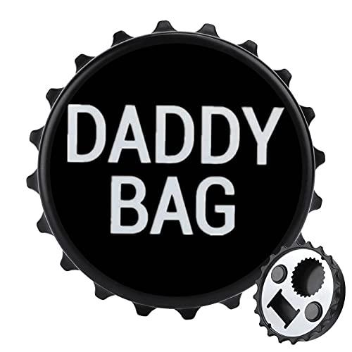 Wh-o's You-r DADD-y abrebotellas de acero inoxidable abridor de botellas de cerveza lindo imán para nevera, apto para bares, fiestas, talla única
