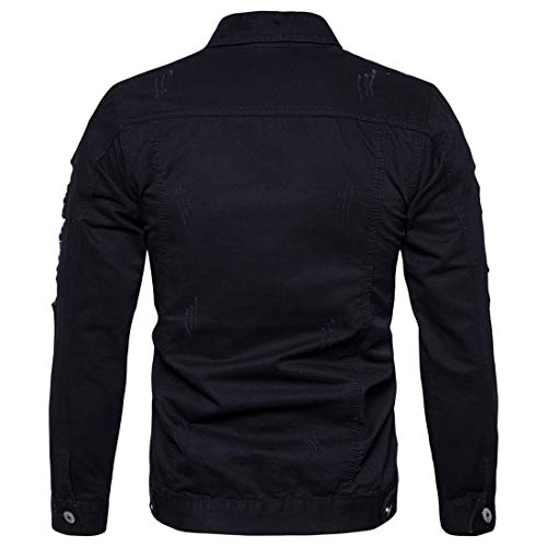 Z&Y Glaa Mens Full Zip Warm Jacket Padded Double Layer Button Winter Coat Winter Fleece Jacket Warm Cargo Stand Collar Military Thicken Cotton Jackets CoatWinter Fleece Jacket Thick Warm Coat