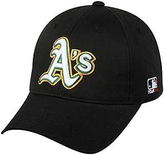 OC Sports Oakland Athletics MLB Hat Cap Black/White A's Logo Adult Men's Adjustable