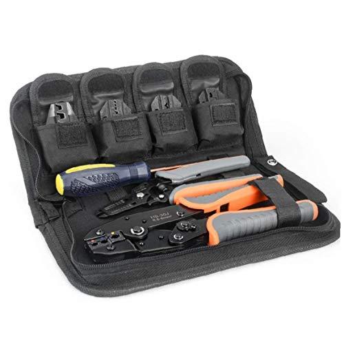 TOPofly SN2549 quetschverbindenzangen Set Abisolierzange Kabel Slicer orange Nicht isoliert isolierte Kabelwerkzeug Praktische Werkzeuge