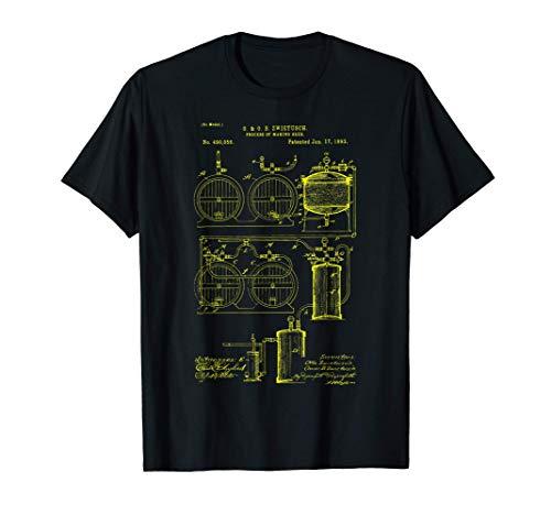 Brassage artisanal de la bière - tirage de brevet classique T-Shirt