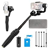 FeiyuTech Vimble 2S Smartphone Gimbal, 18cm Extendable Stabilizer Gimble for iPhone 12/Pro/Max and Android Phones Dolly Zoom Selfie-Stick Remote Control with FeiyuOn App (Vimble2S)