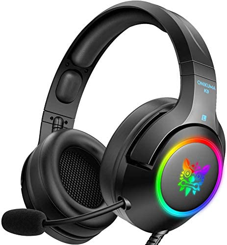 ONIKUMA RGB Gaming Headset for PC PS5 PS4 Xbox one Adapter Not Included Laptop Noise Canceling product image