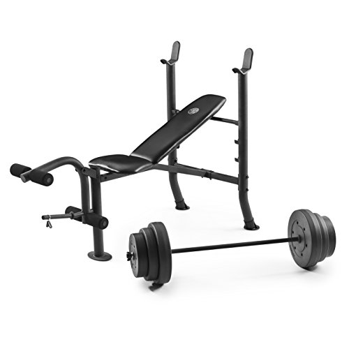 Golds Gym XR 8.1 Combo GGBE99517 Weight Bench with 100 Lb. Vinyl Weight Set