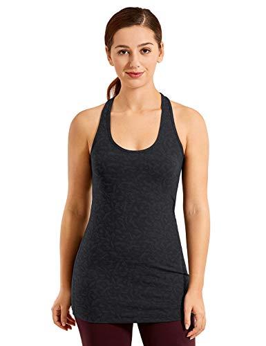 CRZ YOGA Mujer Camiseta Tirantes Deporte de Sueltas Formación Camiseta sin Mangas Leopard Multi 2 38