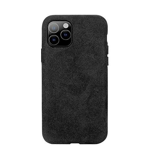 Arrivly Alcantara Cover Für iPhone 11 6,1 Zoll (2019) Schwarz Hülle Wildleder Hülle Handyhülle Rehleder Mikrofaser Schutzhülle (iPhone 11)