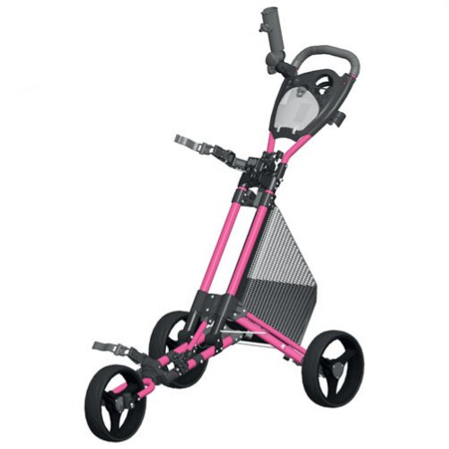 Spin It Golf Products GCPro II Push Golf Cart, Pink