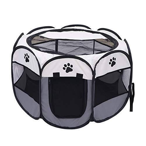 POPETPOP Poppop - 1 Valla Octogonal para Mascotas, Perro, Gato, Cachorro, Ejercicio, Parque de Juegos