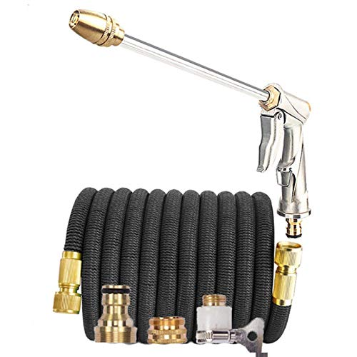 Garden Hose Hose Expandable Magic Hose Pipe High-Pressure Car Wash Hose Adjustable Spray Flexible Home Garden Watering Cleaning Water Gun 50Ft Black Hose With Gun -  GHZG, 9896546902554