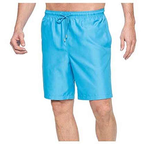 Kirkland Signature Men's Elastic Waistband Mesh Lined Swim Short Trunk (X-Large, Swimming Pool Blue)
