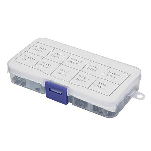 Weikeya Kit de conmutación, Consola de Juegos de Tacto Micro momentáneo Estable con grabadora de Video de plástico de Metal para múltiples propósitos