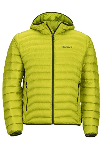 Marmot Men's Tullus Hoody Winter Puffer Jacket, Fill Power 600, Bright Lichen, Medium