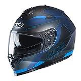 Casco de moto HJC C70 CANEX MC2SF, Negro/Azul, S