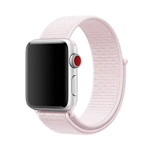 BEST2MOVIL Cinghia Braccialetto Braccialetto in Tessuto/Compatibile con Apple Nylon Watch E Serie Series 4 40MM 1 2 3 38MM Rosa