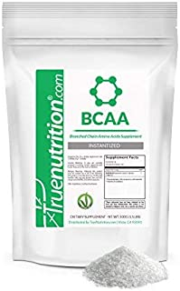 True Nutrition - BCAAs - Branched Chain Amino Acids Supplement - Supports Increased Muscle Metabolism and Increased Energy Production - Instantized BCAA Powder Mixes Easily - Vegan - Unflavored 500g