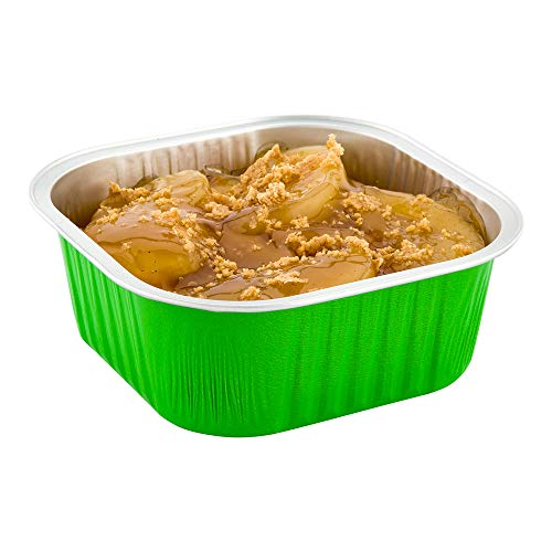 使い捨てラメキン 10オンス 100スクエア クリームブルーリー 使い捨てカップ オーブン対応 カップケーキやマフィンに ライムグリーン アルミニウム 使い捨てベーキングカップ 冷凍庫対応 蓋は別売り