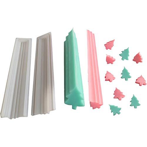Ritapreaty siliconen vorm, kerstboom hand zeep buis model, siliconen mal lange cilinder koud proces zeep kleurstof